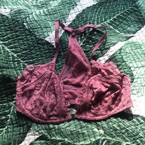 Victoria's Secret lace unlined bra